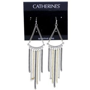 3/$20 Catherines gold and silver chain dangles